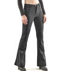 pantalón retro gamuza negro bous