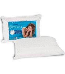 travesseiro americanflex bianco 10cm de altura branco