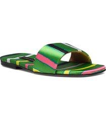 henra, 1193 satin shoes shoes summer shoes flat sandals grön stine goya