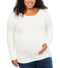 motherhood maternity plus size back interest sweater