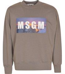 msgm chest logo ribbed sweatshirt
