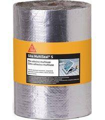 fita asfáltica sika multiseal s, auto adesiva, alumínio - 20 cm x 10 metros