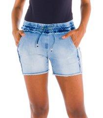 shorts moletom denim jeans azul