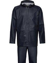 bioko usx set outerwear rainwear rain coats blå didriksons