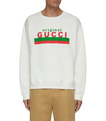 'original gucci' slogan embroidered sweatshirt