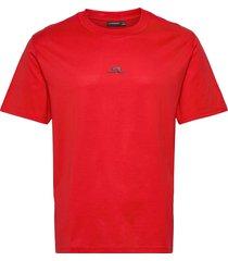 jordan bridge t-shirt cotton t-shirts short-sleeved röd j. lindeberg