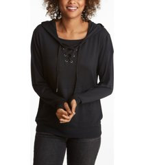 adyson parker women's laceup hoodie with built in mask
