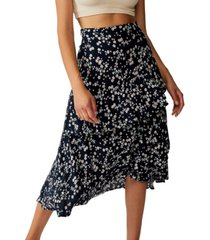 cotton on eve frill midi skirt