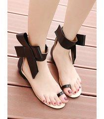 primavera zapatos planos sandalias con lazo