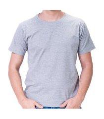 camiseta 100% algodao unisexx promocao imperdivel cinza