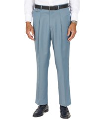 tayion collection men's classic-fit solid teal suit separates pants