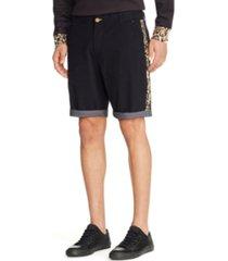 "tallia men's leopard print side stripe 9"" shorts"