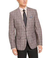 bar iii men's slim-fit plaid sport coat, created for macy's