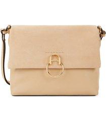 suede & leather flap shoulder bag