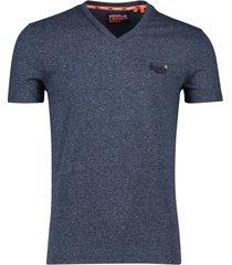 donkerblauw t-shirt superdry orange label vintage