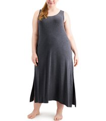alfani plus size long tank nightgown, created for macy's