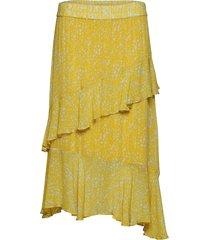 olivia skirt knälång kjol gul second female