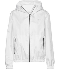 large ck logo hooded zomerjas dunne jas wit calvin klein jeans