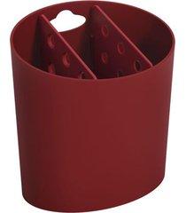 escorredor de talheres coza oval basic vermelho