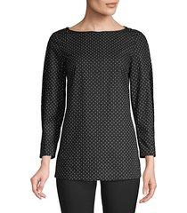 caddie print blouse