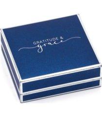 gratitude & grace fine silver plated cubic zirconia cross pendant necklace