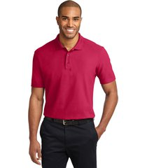 port authority k510 soil & stain-resistant polo shirt - red