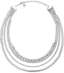 'asli classic chain' silver multi-row necklace