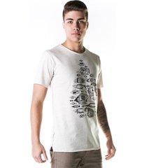 camiseta heir peixes cru off-white - kanui
