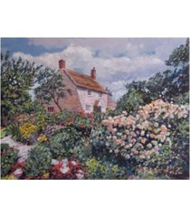 "david lloyd glover garden at the manor house canvas art - 37"" x 49"""