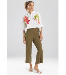 natori sanded twill cropped pants, women's, size s