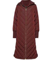 yasabira long down coat s. gevoerde lange jas rood yas