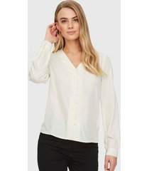 blusa vero moda ml crudo - calce regular