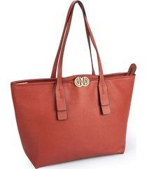 bolsa sacola dumond grande logo duplo soft rela vermelha - kanui
