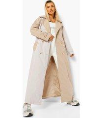 colour block trench coat, camel