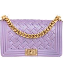 marc ellis flat braid m shoulder bag in viola pvc