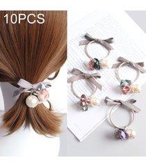 10 pcs lindo dulce estilo pelo banda elastica de caucho anillo de color al azar entrega