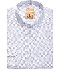 joe joseph abboud repreve® sky blue dot slim fit dress shirt