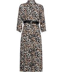 midi shirt dress knälång klänning svart calvin klein