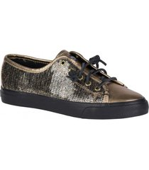 zapatilla seacoast sequin dorado sperry