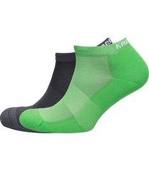 skare sock 2pk footies träningssockor/ankle socks grön kari traa
