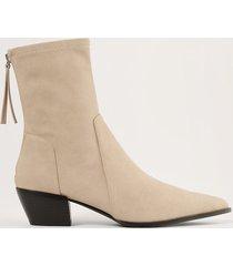 na-kd shoes boots i mockaimitation med smal tå - beige