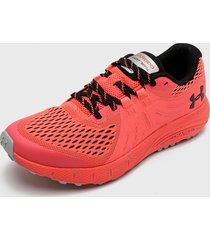zapatilla ua charged bandit trail coral under armour