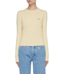 anagram embroidered wool sweater