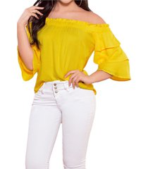 blusa amarillo mp
