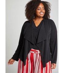 lane bryant women's knit kit cropped jacket 14/16 black