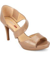 zapato formal dama tan silver soul sd45117tan