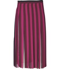 michael kors pleated skirt in shades of purple