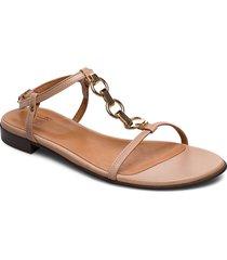 sandals 4132 shoes summer shoes flat sandals beige billi bi