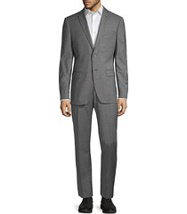 john varvatos star u.s.a. men's standard-fit check wool-blend suit - grey - size 42 l