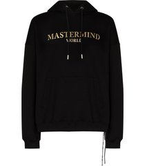 mastermind japan metallic-logo hoodie - black